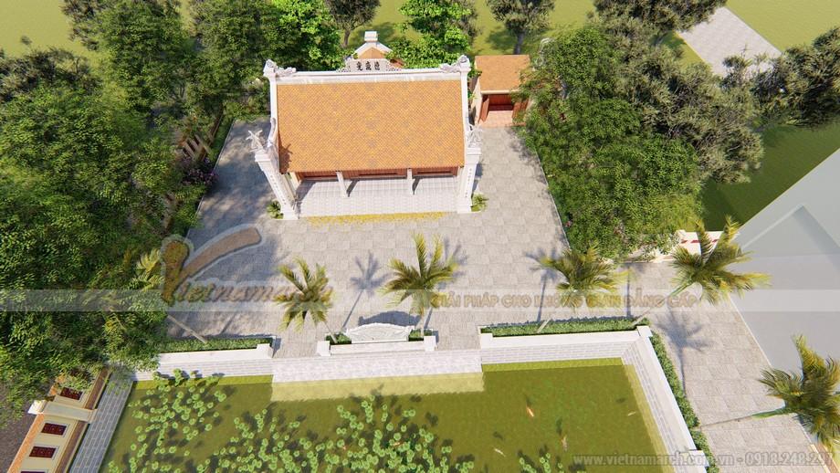 Mẫu nhà thờ họ 3 gian có hậu cung