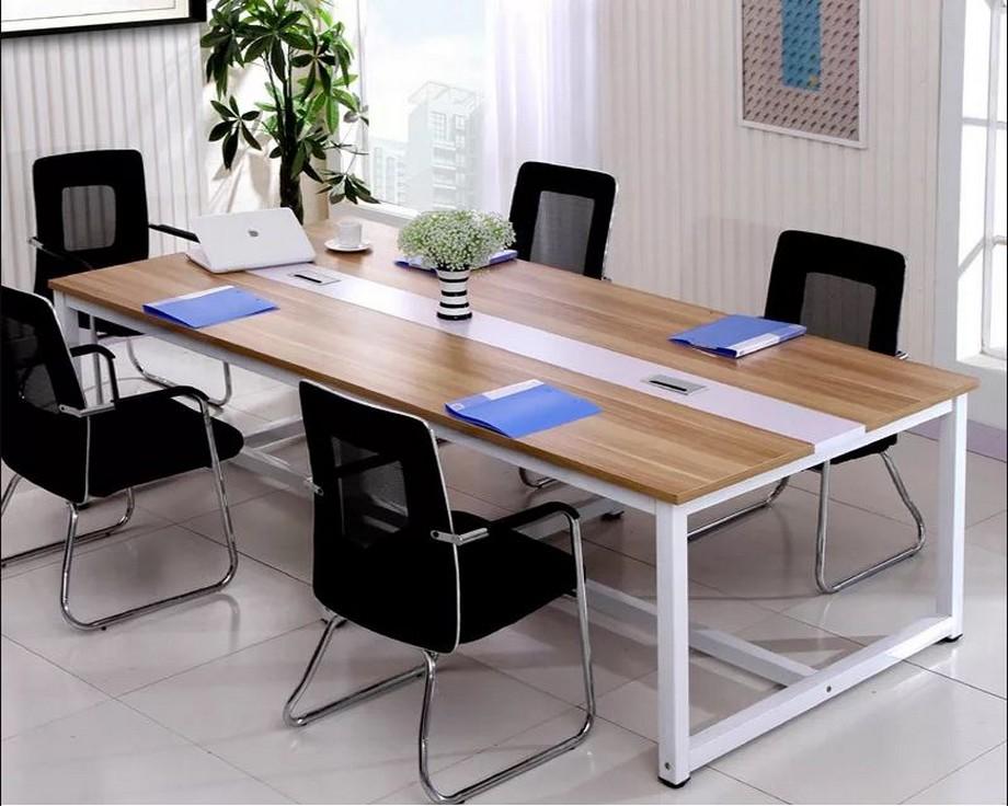 Vật liệu kim loại trong thiết kế nội thất phòng họp văn phòng