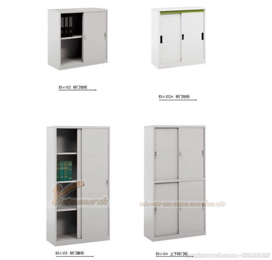 Mẫu tủ tài liệu văn phòng siêu đẹp có thiết kế cửa cánh lùa cho văn phòng, không gian làm việc chung