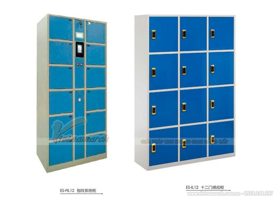 Mẫu tủ sắt đựng đồ cá nhân siêu đẹp cho văn phòng, không gian làm việc chung có khóa mật mã