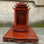 Bán bàn  thờ ông địa thần tài mái chùa cho công ty thiết kế nội thất tại Lương Thế Vinh