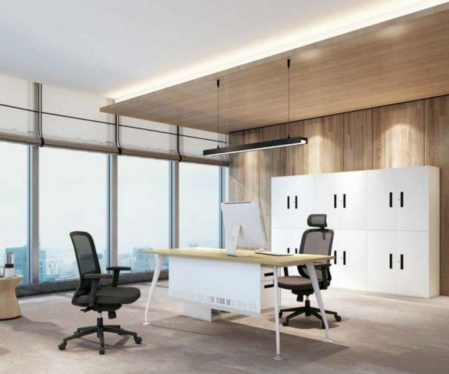 Mẫu bàn làm việc, bàn giám đốc lắp ghép hiện đại D30 cho văn phòng
