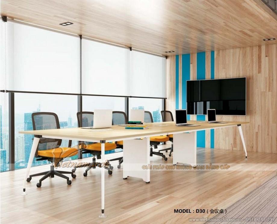 Mẫu bàn phòng họp lắp ghép D30 cho văn phòng hiện đại