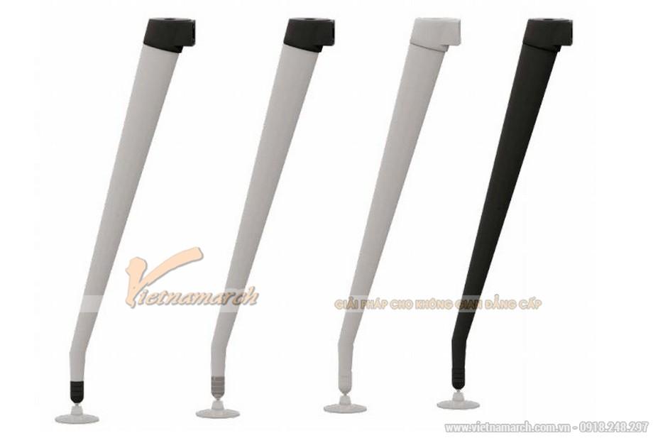 Mẫu bàn làm việc, bàn giám đốc lắp ghép hiện đại D30 cho văn phòng có thiết kế phần chân bằng kim loại chắc chắn