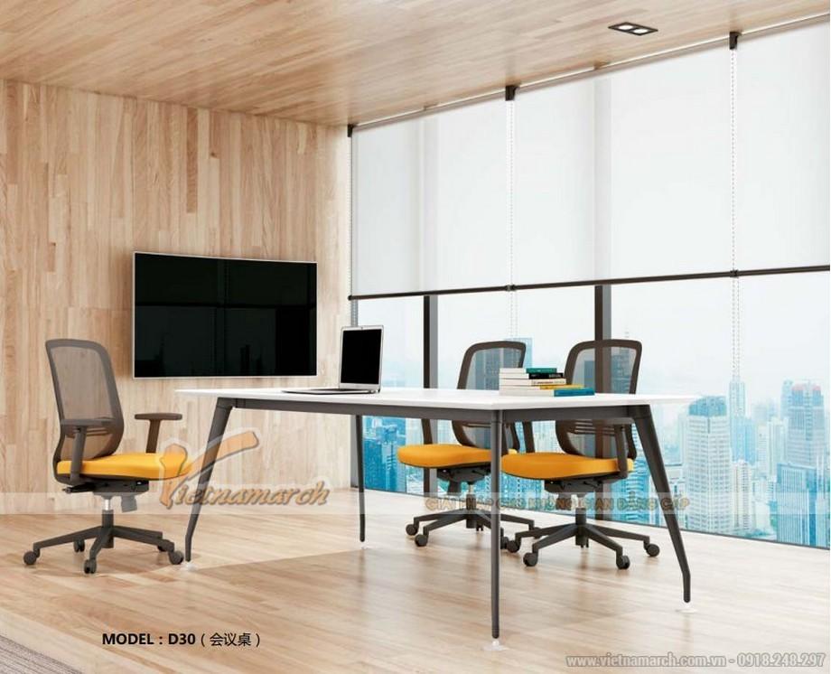 Mẫu bàn lắp ghép hiện đại D30 cho phòng họp nhóm nhỏ