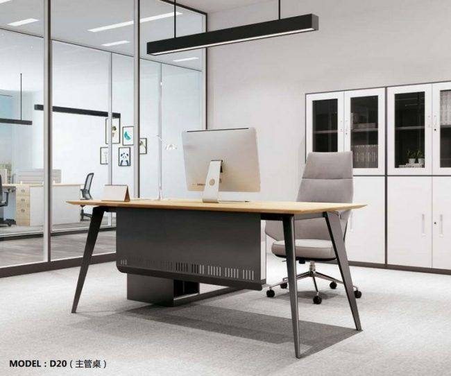 Mẫu bàn làm việc cho văn phòng đa năng, hiện đại D20