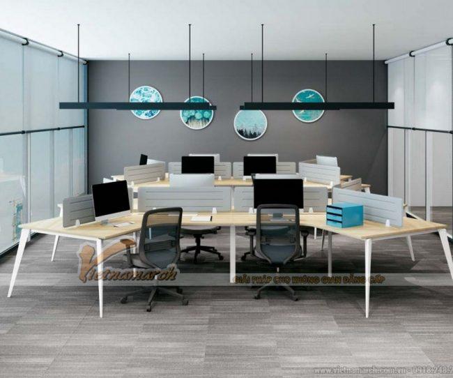 Mẫu bàn làm việc văn phòng đa năng D20