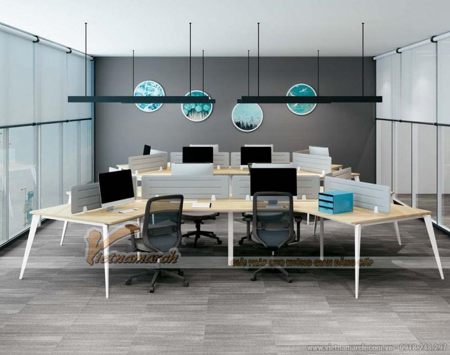 Mẫu bàn làm việc cho văn phòng đa năng, hiện đại D20 kiểu dáng ấn tượng