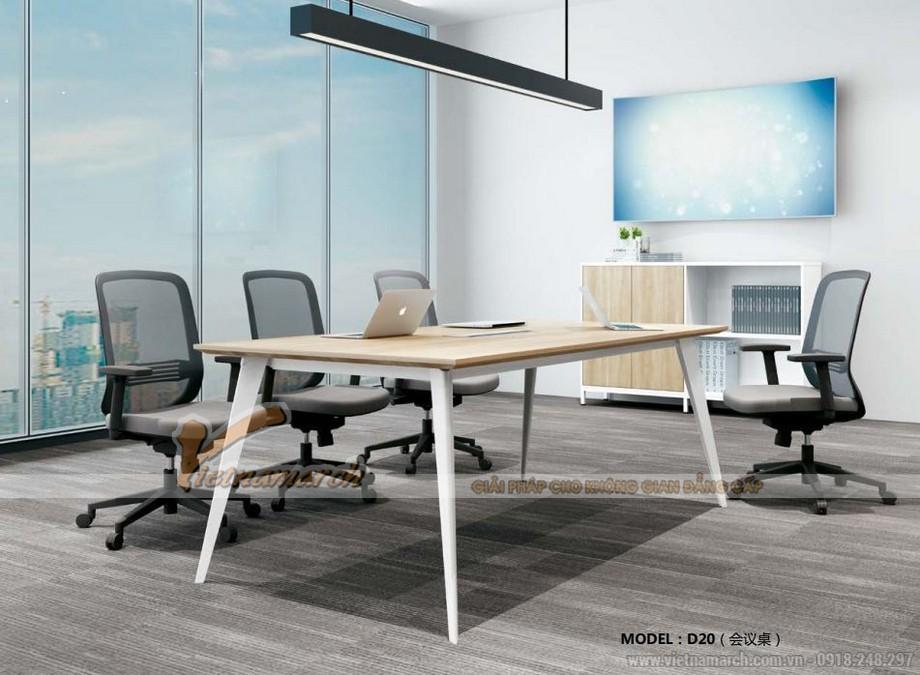 Mẫu bàn làm việc cho văn phòng đa năng, hiện đại D20 tạo thành bàn phòng họp nhỏ