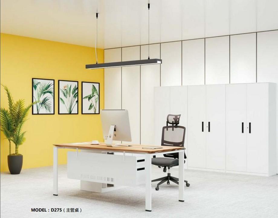 Mẫu bàn làm việc D275 hiện đại cho văn phòng, không gian làm việc chung ứng dụng làm bàn giám đốc phong cách trẻ trung