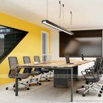 Mẫu bàn làm việc D275 hiện đại dành cho văn phòng, không gian làm việc chung