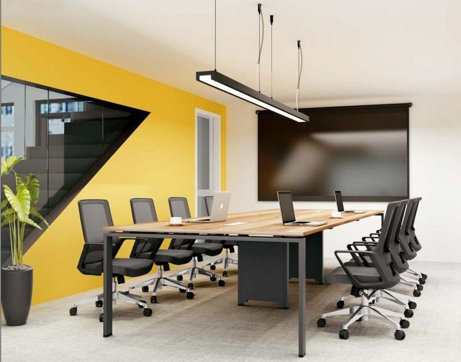 Mẫu bàn làm việc D275 hiện đại cho văn phòng, không gian làm việc chung được ứng dụng trong phòng họp lớn