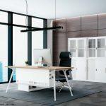 Mẫu bàn làm việc D50 lắp ghép, hiện đại cho không gian văn phòng