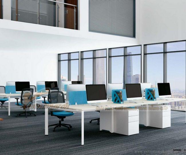 Mẫu bàn làm việc D557 hiện đại, đa năng cho không gian nội thất văn phòng