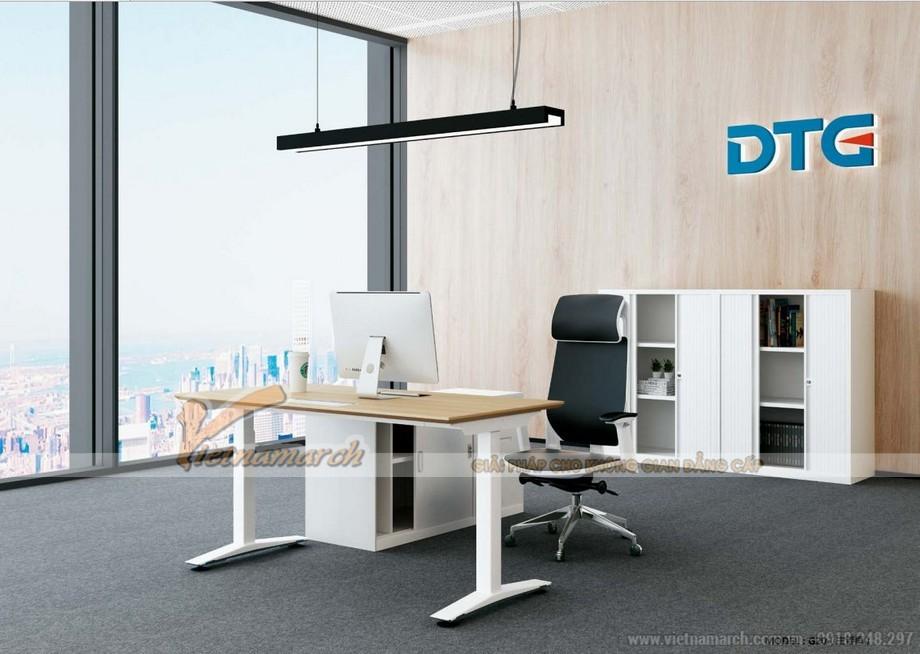 Mẫu bàn làm việc đa năng ấn tượng cho nội thất văn phòng hiện đại được ứng dụng làm bàn làm việc giám đốc sang trọng