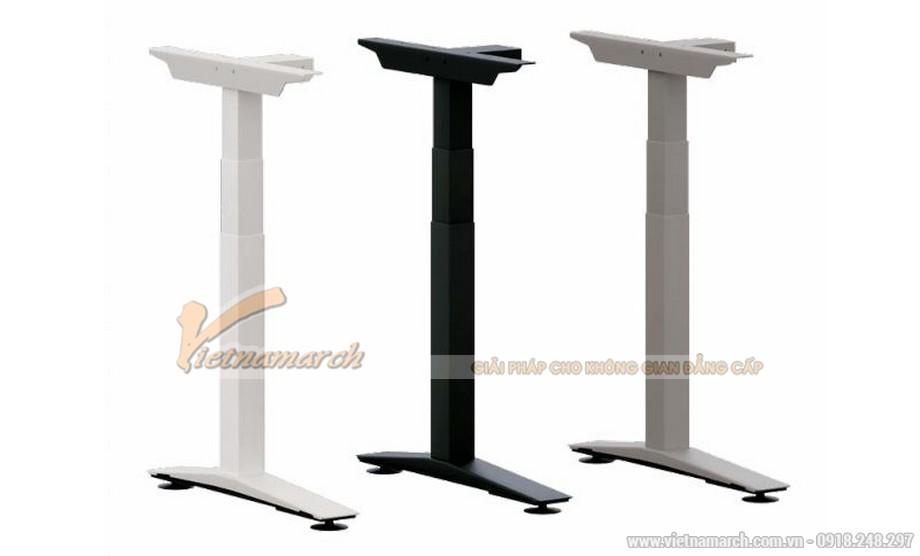 Chân bàn làm việc đa năng ấn tượng cho nội thất văn phòng hiện đại có các nấc điều chỉnh chiều cao