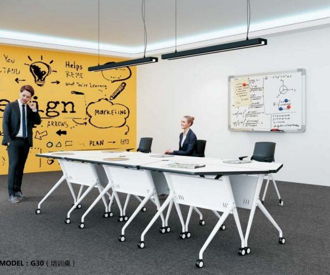 Mẫu bàn làm việc kiểu dáng độc đáo cho nội thất văn phòng G30