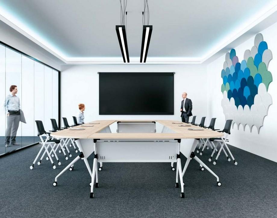 Mẫu bàn làm việc kiểu dáng độc đáo G30 được sử dụng làm bàn phòng họpcho nội thất văn phòng