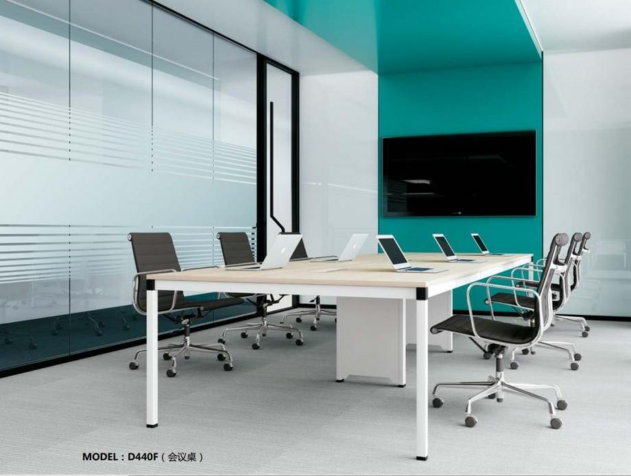 Mẫu bàn làm việc lắp ghép đa năng chắc chắn cho không gian văn phòng D440F dành cho phòng họp được sơn màu trắng