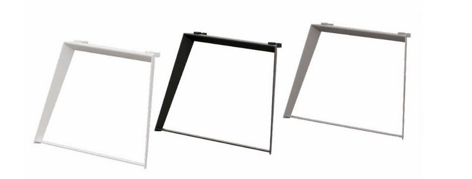 Mẫu bàn làm việc lắp ghép đa năng, hiện đại cho văn phòng D10 với thiết kế chân bàn hình thang vững chãi