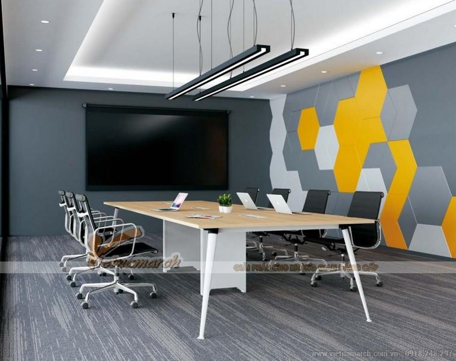 Mẫu bàn phòng họp thông minh biến hóa đa dạng D40 cho văn phòng với chân bàn sơn trắng