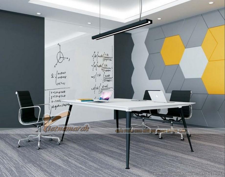 Mẫu bàn làm việc thông minh biến hóa đa dạng D40 cho văn phòng dành cho phòng họp nhỏ với chân bàn sơn đen