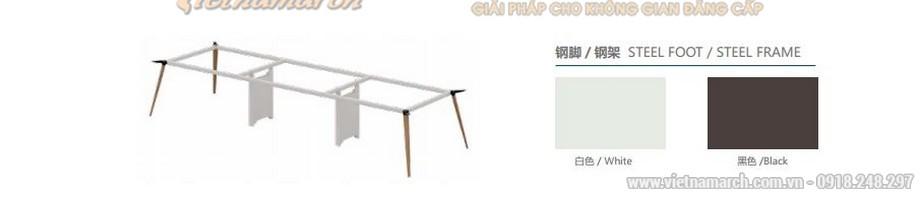 Mẫu bàn làm việc thông minh biến hóa đa dạng D40 cho văn phòng có thể lắp ghép thành nhiều kiểu dáng bàn khác nhau