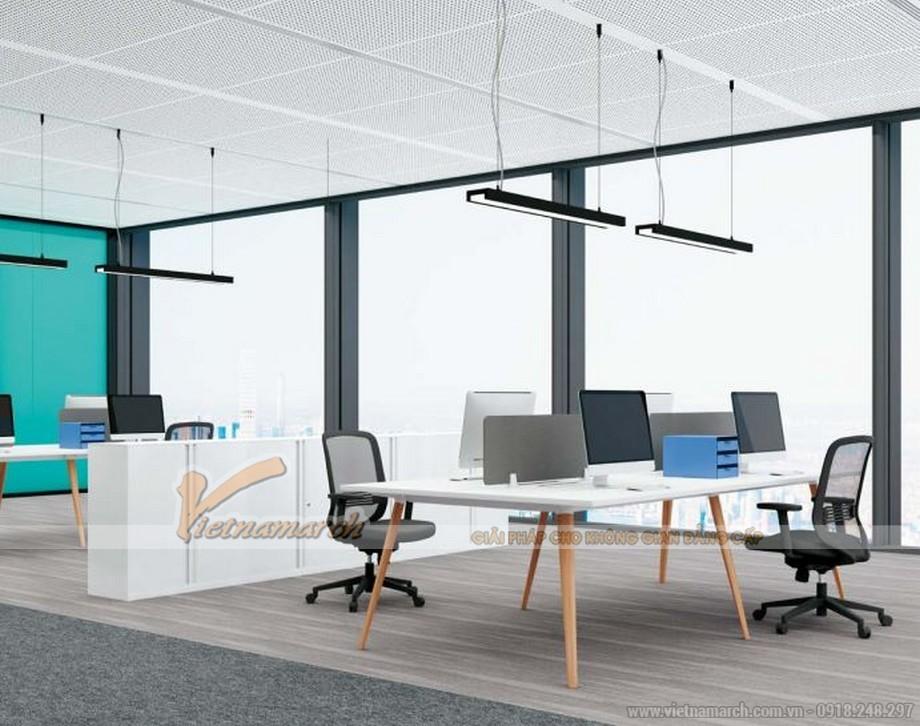 Mẫu bàn làm việc thông minh biến hóa đa dạng D40 cho văn phòng làm việc với chân sơn màu giả gỗ