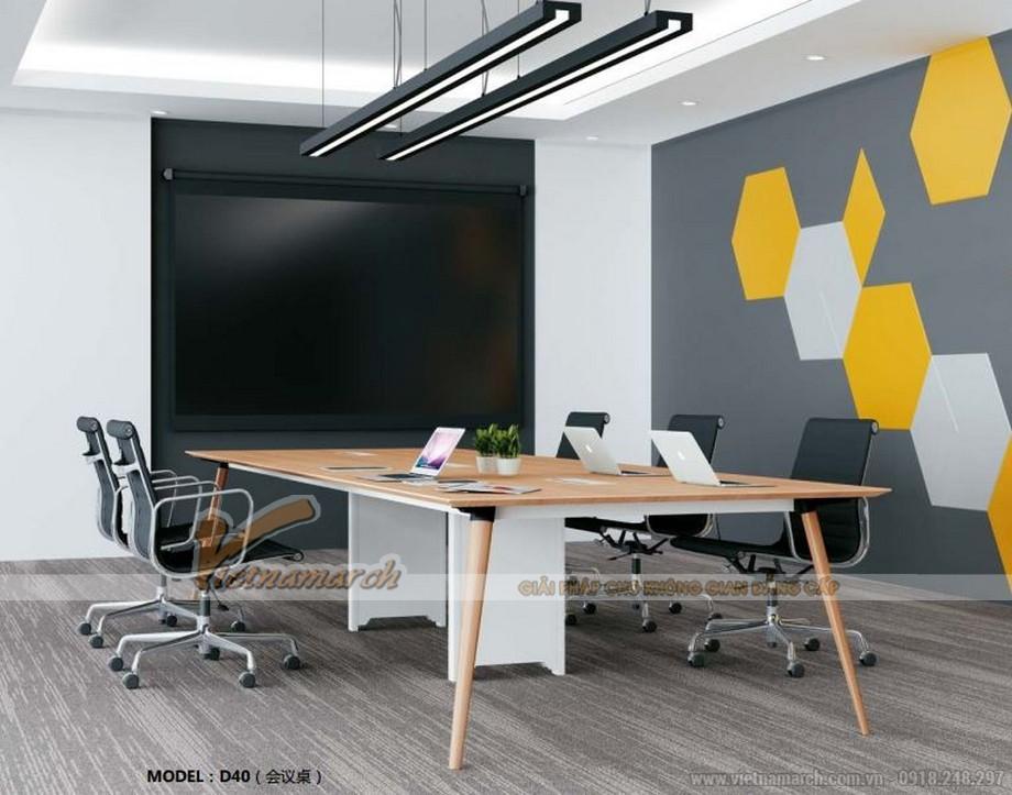 Mẫu bàn làm việc thông minh biến hóa đa dạng D40 thành bàn họp lớn cho văn phòng