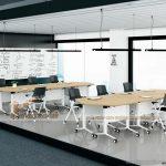 Mẫu bàn phòng họp, bàn làm việc lắp ghép kiểu dáng hiện đại G40