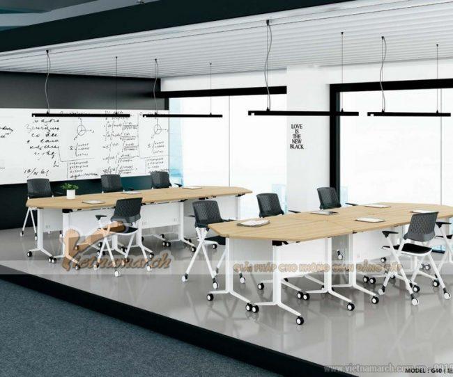 Mẫu bàn làm việc kiểu dáng hiện đại G40Mẫu bàn làm việc kiểu dáng hiện đại G40