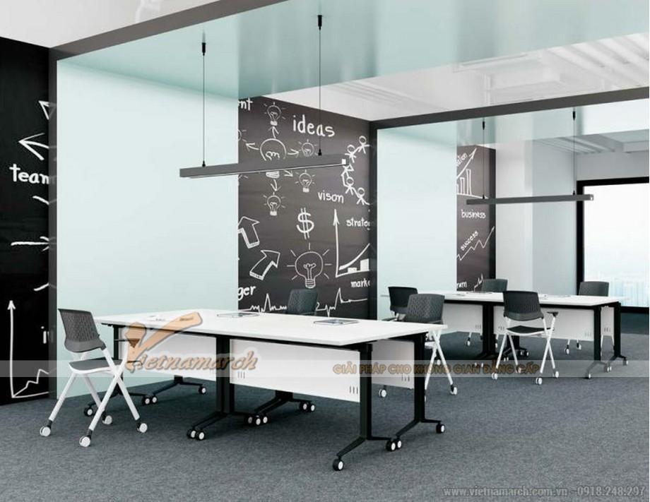 Mẫu bàn phòng họp, bàn làm việc lắp ghép kiểu dáng hiện đại dễ dàng sử dụng cho nhiều không gian văn phòng