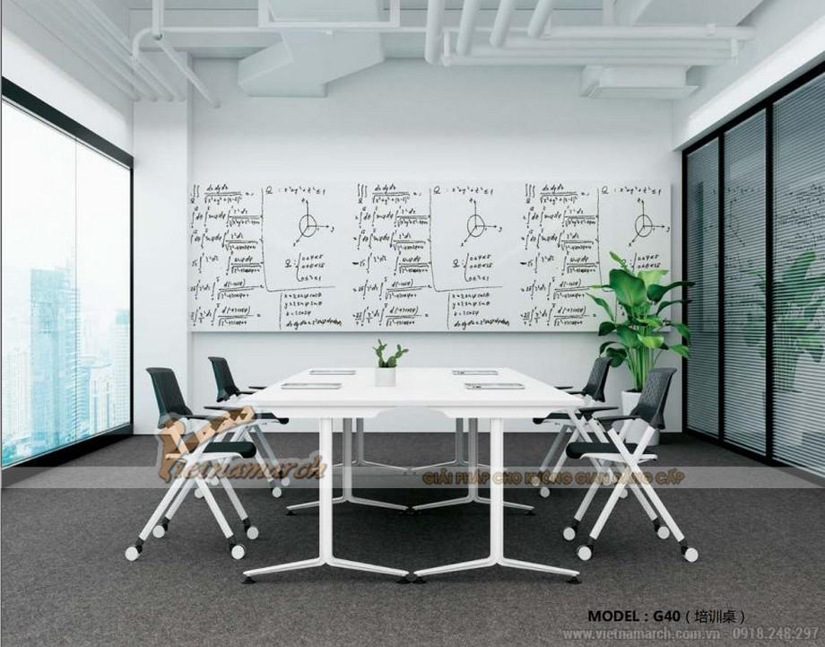 Mẫu bàn phòng họp, bàn làm việc lắp ghép kiểu dáng hiện đại, thiết kế chắc chắn