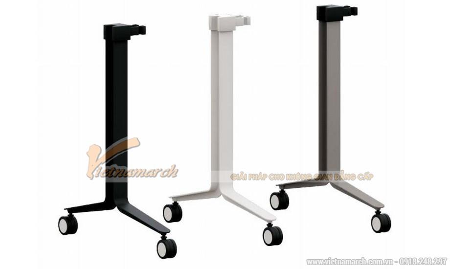 Mẫu bàn phòng họp, bàn làm việc lắp ghép kiểu dáng hiện đại với chân bàn thiết kế đẹp mắt sơn màu trắng hoặc đen