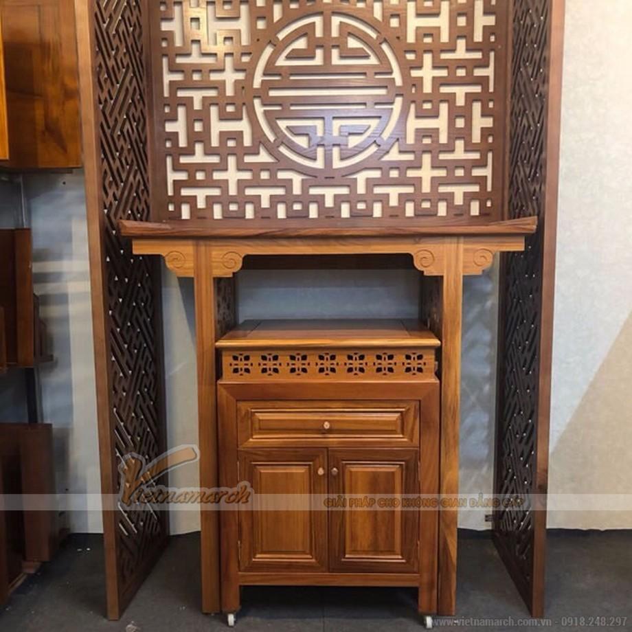 Thiết kế nội thất phòng thờ nhà anh Thanh tạiChung cư Hòa Bình Green City