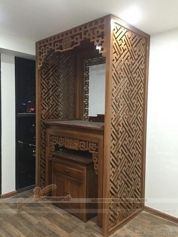 Thiết kế nội thất phòng thờ Chung cư Tân Tây Đô-Đan Phượng _Hà Nội