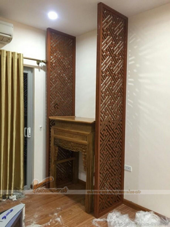 Thiết kế nội thất phòng thờ cho chung cư Kim văn Kim Lũ -Nguyễn Xiển - Hà Nội- đi qua cầu Dậu 200m