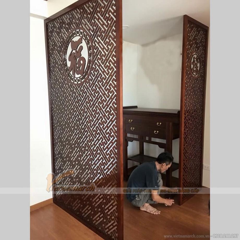 Thiết kế phòng thờ chung cư Đại Thanh-Cầu Bươu _Hà Nội