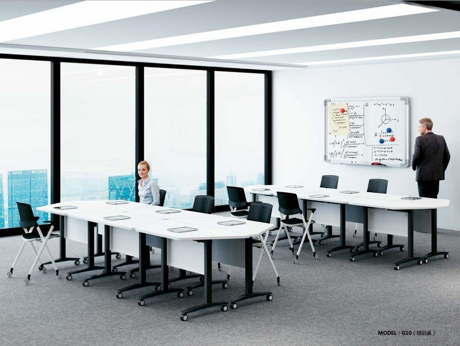 Mẫu bàn văn phòng phong cách hiện đại, linh hoạt G10 được ứng dụng làm bàn họp nhóm