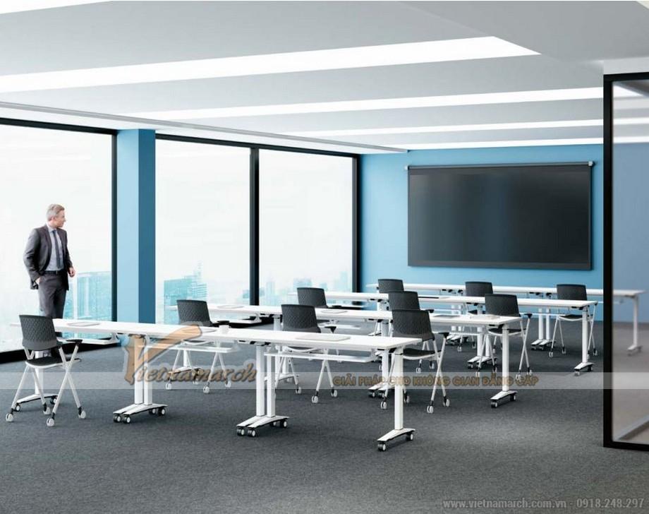 Mẫu bàn văn phòng phong cách hiện đại, linh hoạt G10 được ứng dụng làm bàn học