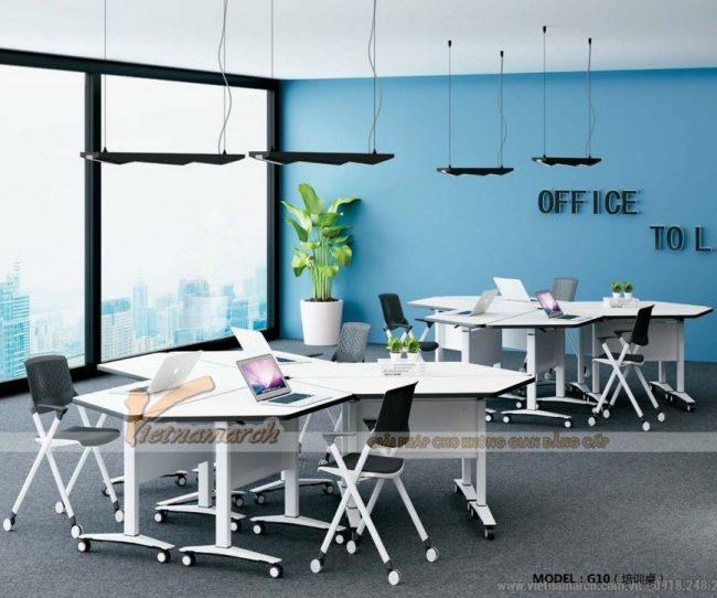 Mẫu bàn văn phòng kiểu dáng hiện đại G10