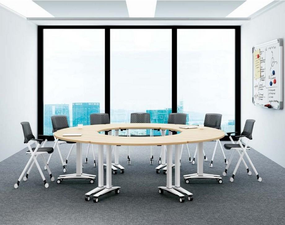 Mẫu bàn phòng họp văn phòng phong cách hiện đại, linh hoạt G10 tạo thành bàn hình tròn