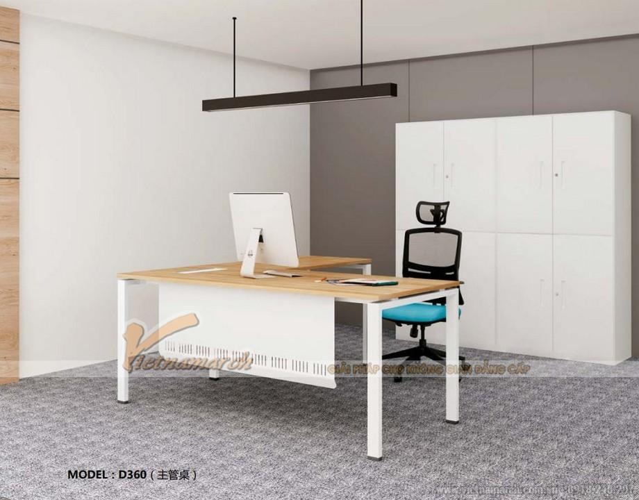 Mẫu bàn làm việc sang trọng trong thiết kế nội thất văn phòng hiện đại