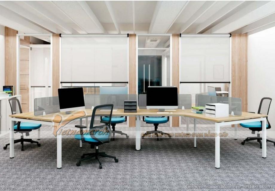 Mẫu thiết kế bàn làm việc D360 kiểu dáng hiện đại, phá cách cho không gian văn phòng