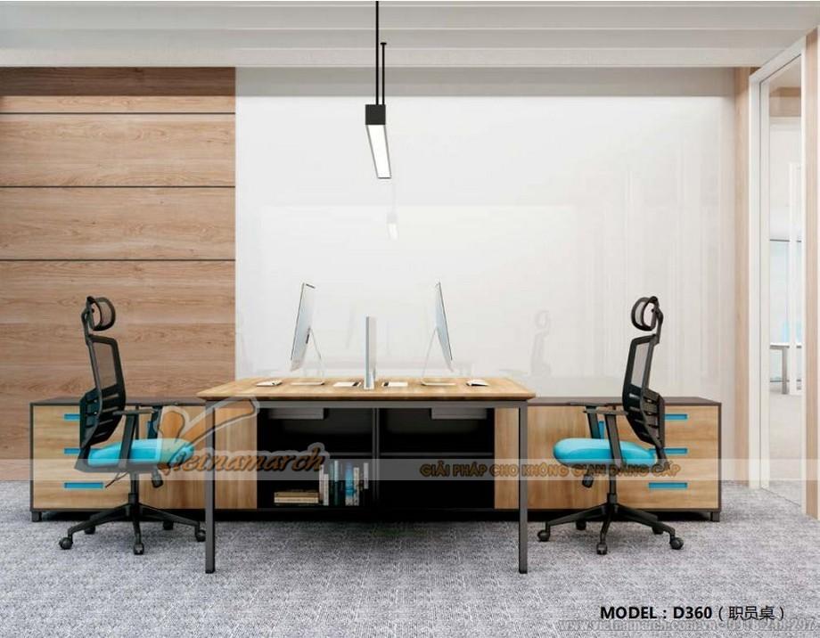 Mẫu thiết kế bàn làm việc D360 kiểu dáng hình vuông hiện đại cho không gian văn phòng