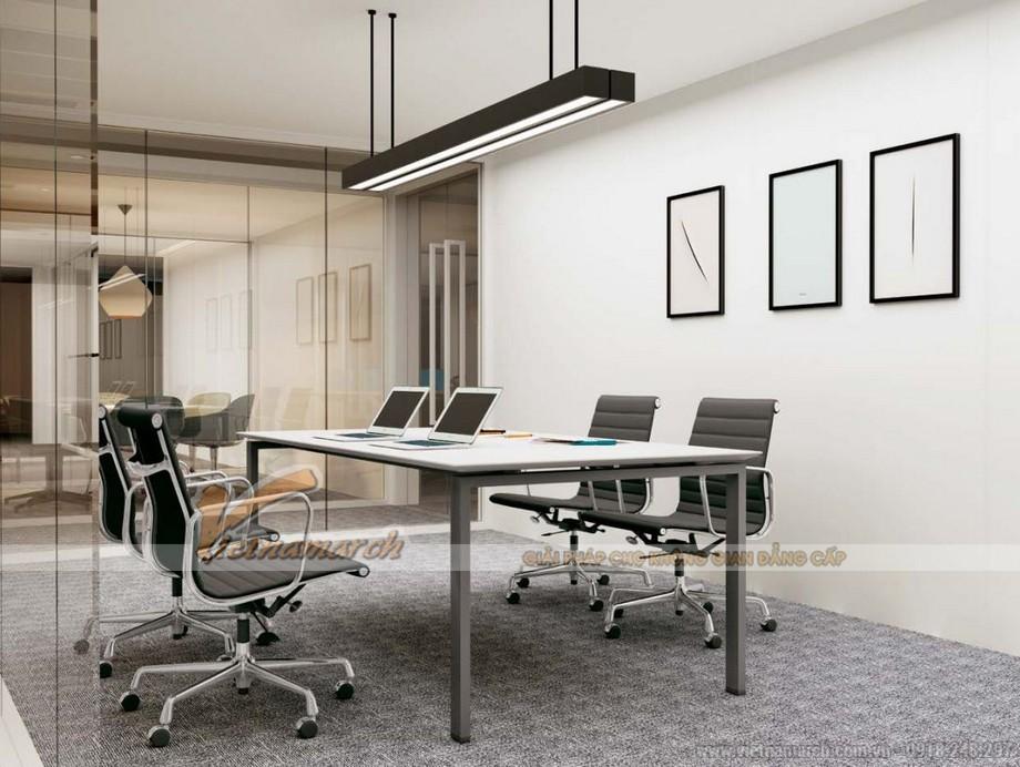 Mẫu thiết kế bàn phòng họp D360 kiểu dáng hiện đại cho không gian văn phòng