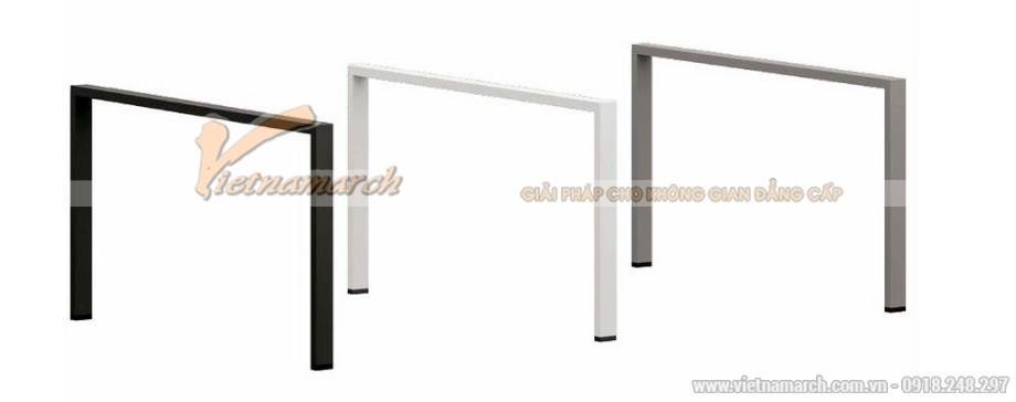 Mẫu thiết kế bàn làm việc D360 kiểu dáng hiện đại cho không gian văn phòng được làm từ chất liệu kim loại