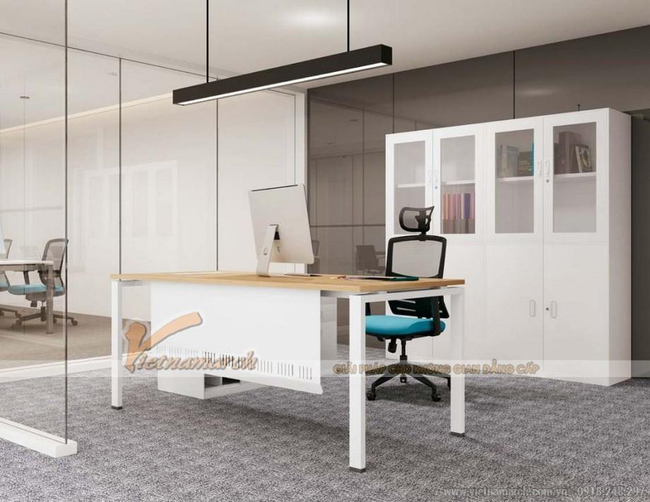 Mẫu thiết kế bàn làm việc D360 kiểu dáng hiện đại cho không gian văn phòng giám đốc chữ I