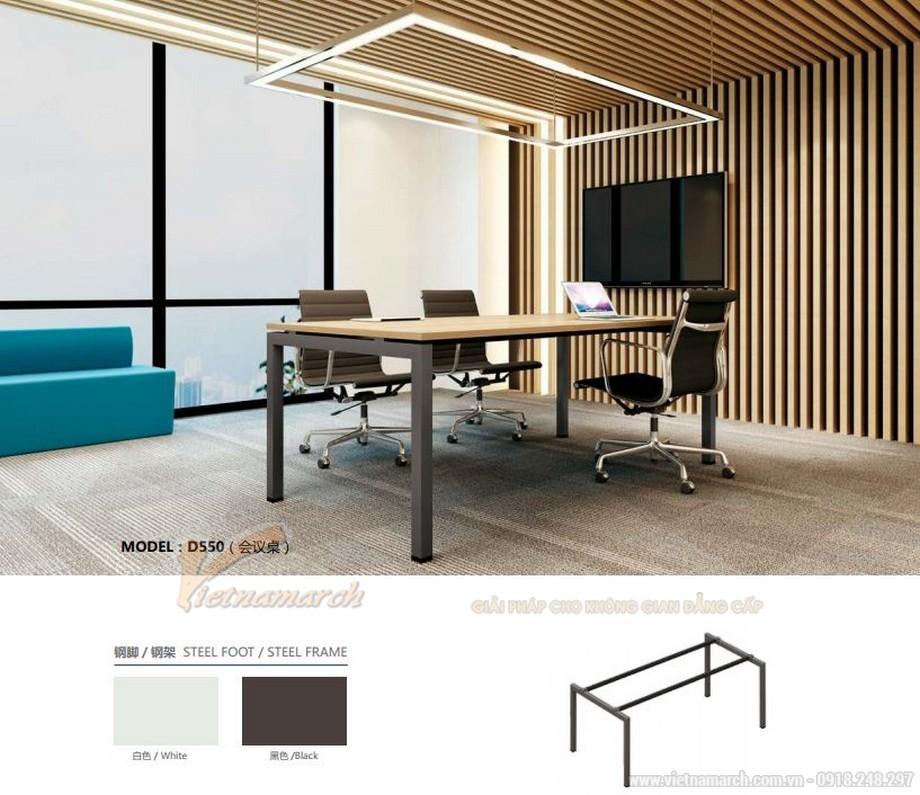 Mẫu thiết kế bàn làm việc D550 kiểu dáng dài ấn tượng cho nội thất phòng họp hiện đại