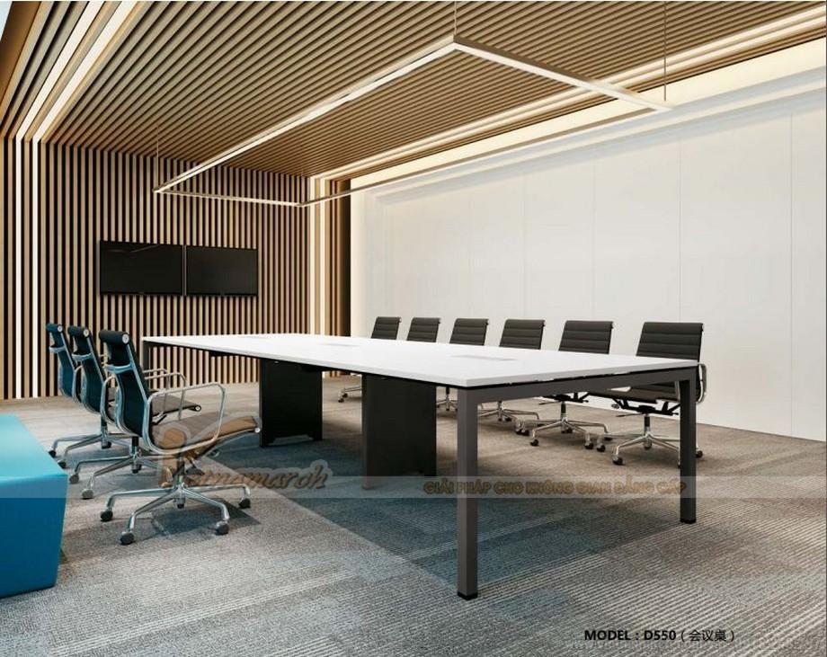 Mẫu thiết kế bàn làm việc D550 ấn tượng cho nội thất phòng họp hiện đại